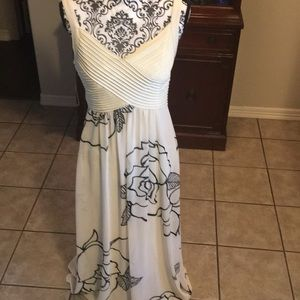 Beautiful cream and black maxi dress